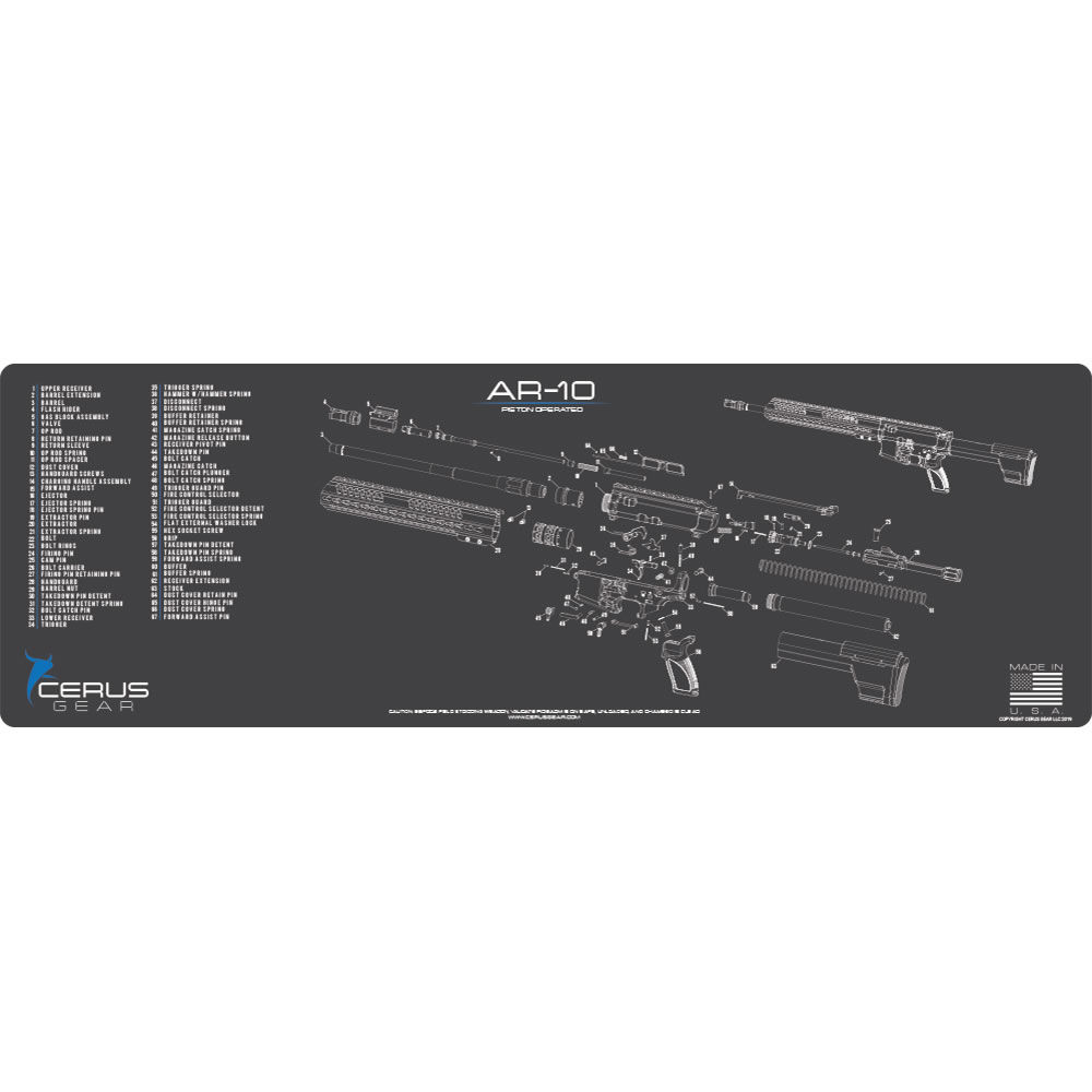 cerus gear - RMAR10SCHGRY - AR10 SCHEMATIC RIFLE CHARCOAL GRAY for sale