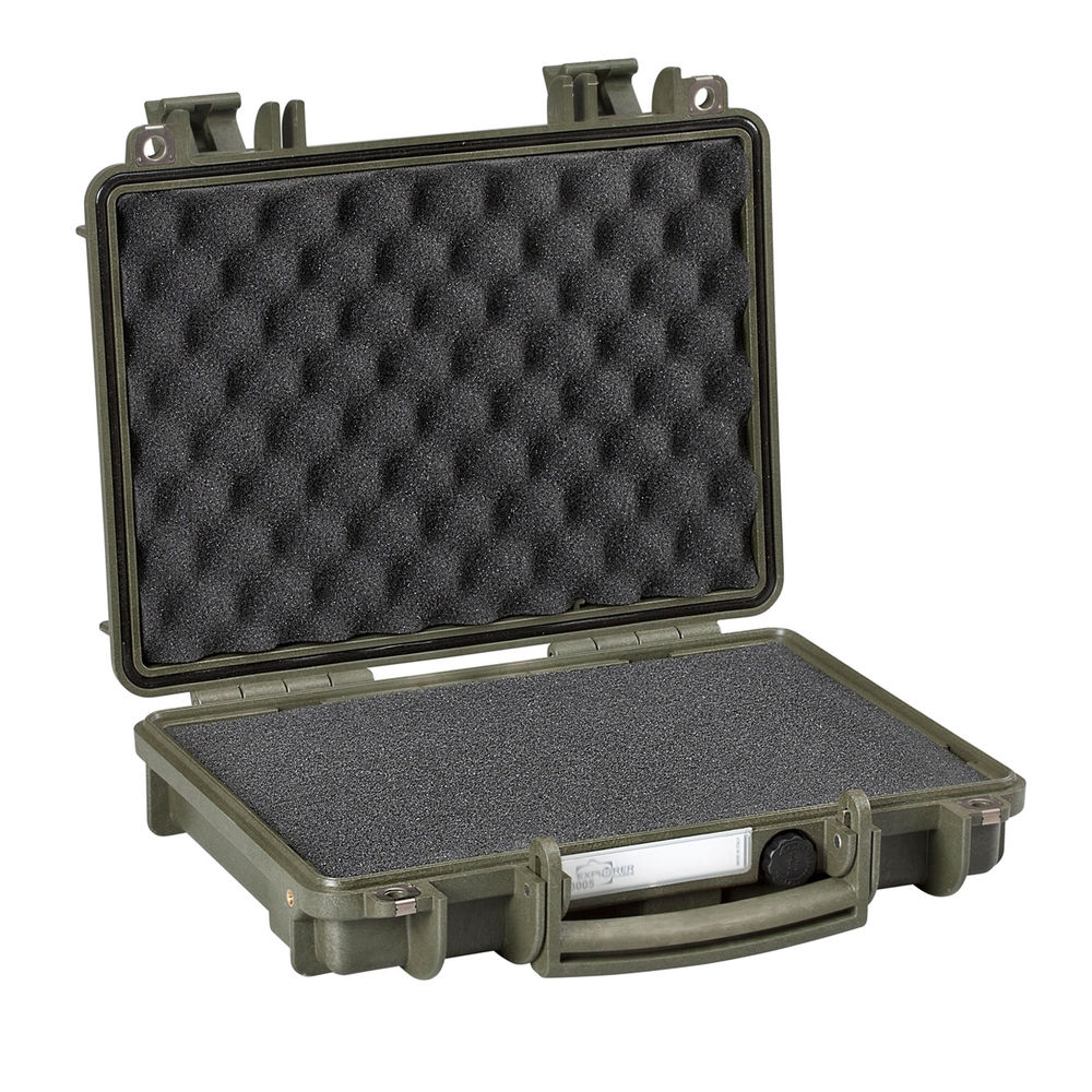 explorer case - 3005G - SINGLE PISTOL CASE GRN PRE CUBED FOAM for sale