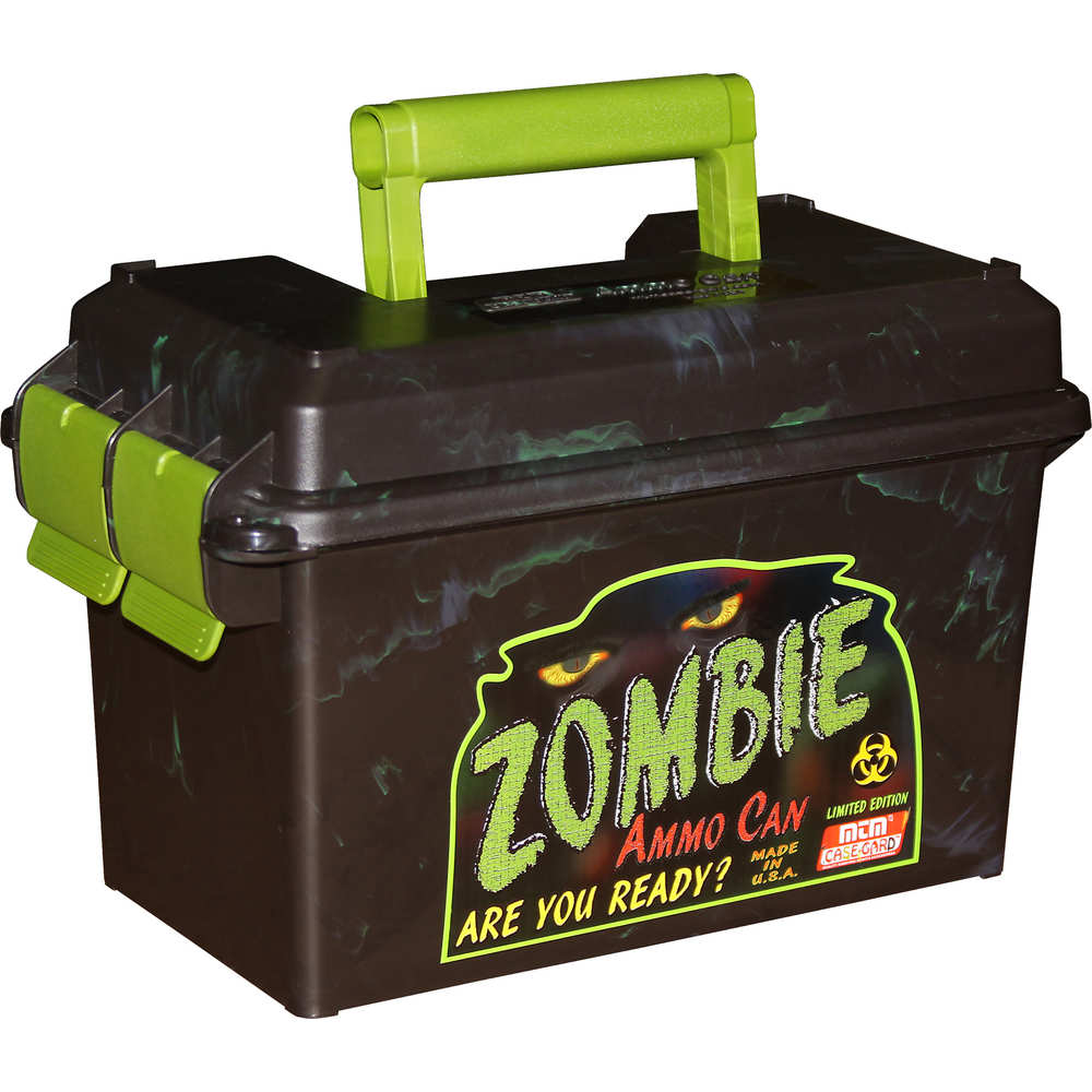 mtm case-gard - Ammo Can - AMMO CAN 50 CALIBER BLACK/ZOMBIE GRN for sale