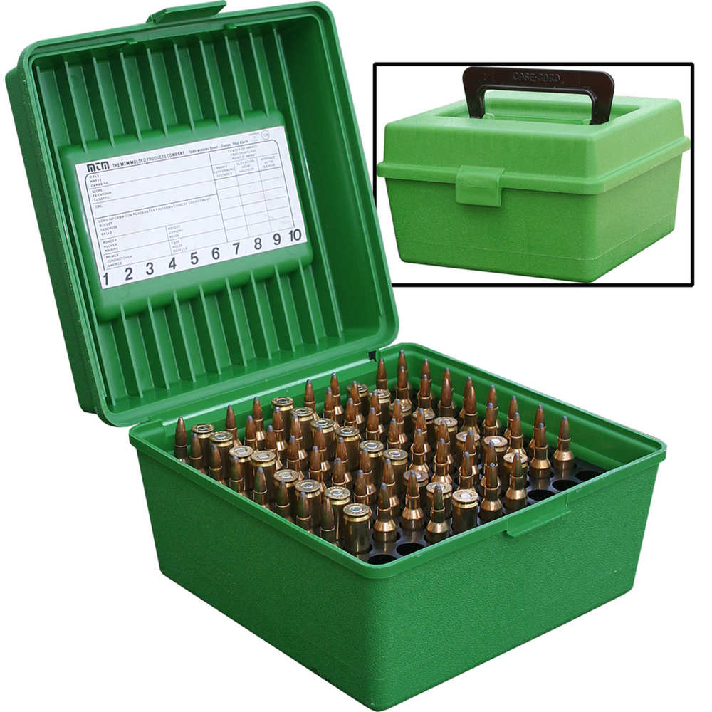 mtm case-gard - Rifle Ammo - DLX RIFLE AMMO CASE 100RD - GREEN for sale