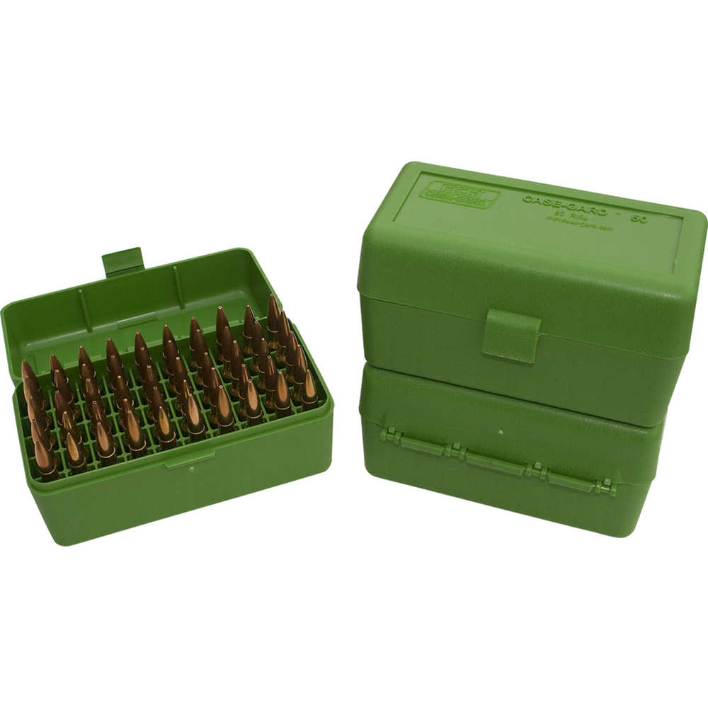 mtm case-gard - RM5010 - 50 SER MED RIFLE AMMO BOX 50RD - GREEN for sale