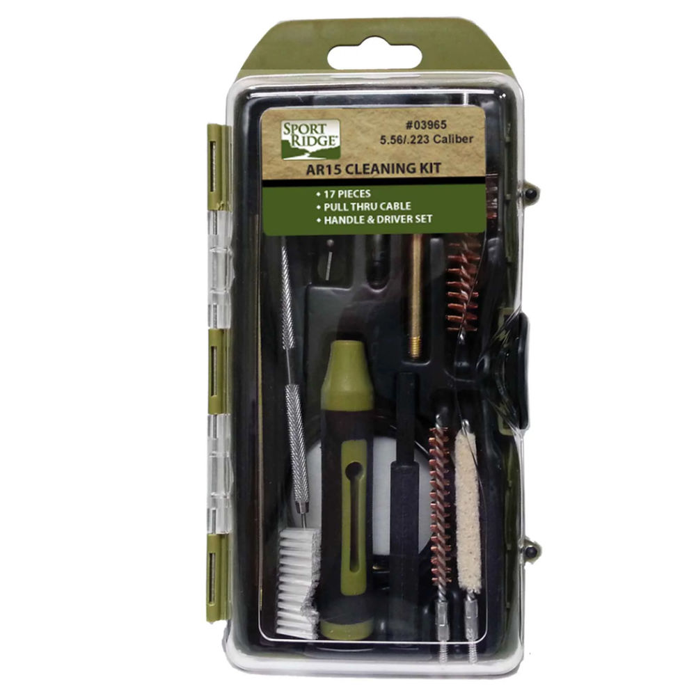 sport ridge - 03965 - M16/AR15 17PC RIFLE CLEANING KIT HARD CS for sale