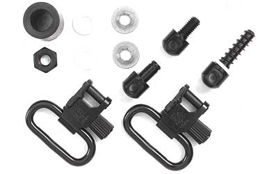 uncle mike's - Shotgun Swivels - QD115 MCS BL 1IN SLING SWIVEL SET for sale