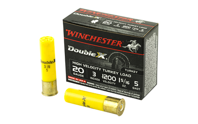 "Winchester - Double X - 20 Gauge 3"" - DBL X HV 20GA 3IN 1.3125OZ 5 10/BX for sale"